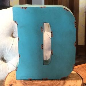 Tin Hanging Letter D NWT